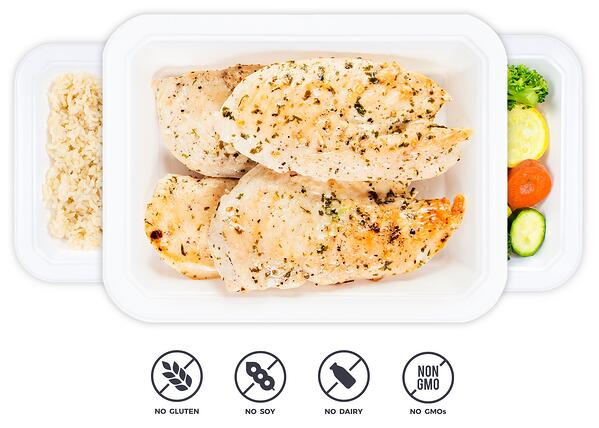 Package of ready to eat Trifecta chicken breast