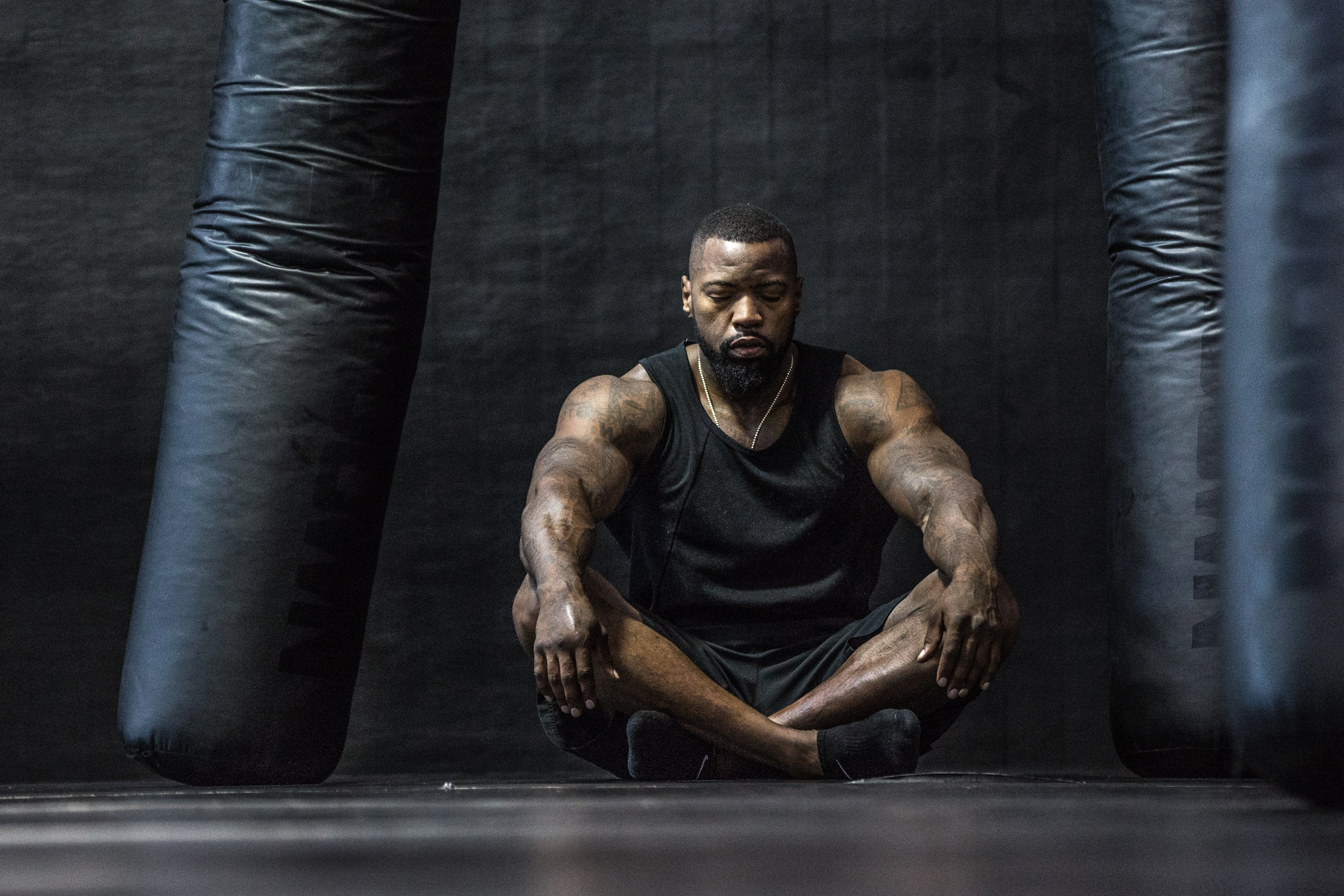 Boxer Power Bodybuilding Mike Rashid relaxed wellbeing meditate for better health