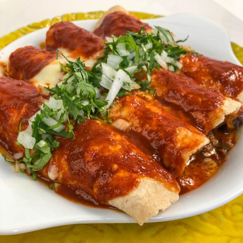 Beef Enchiladas Trifecta