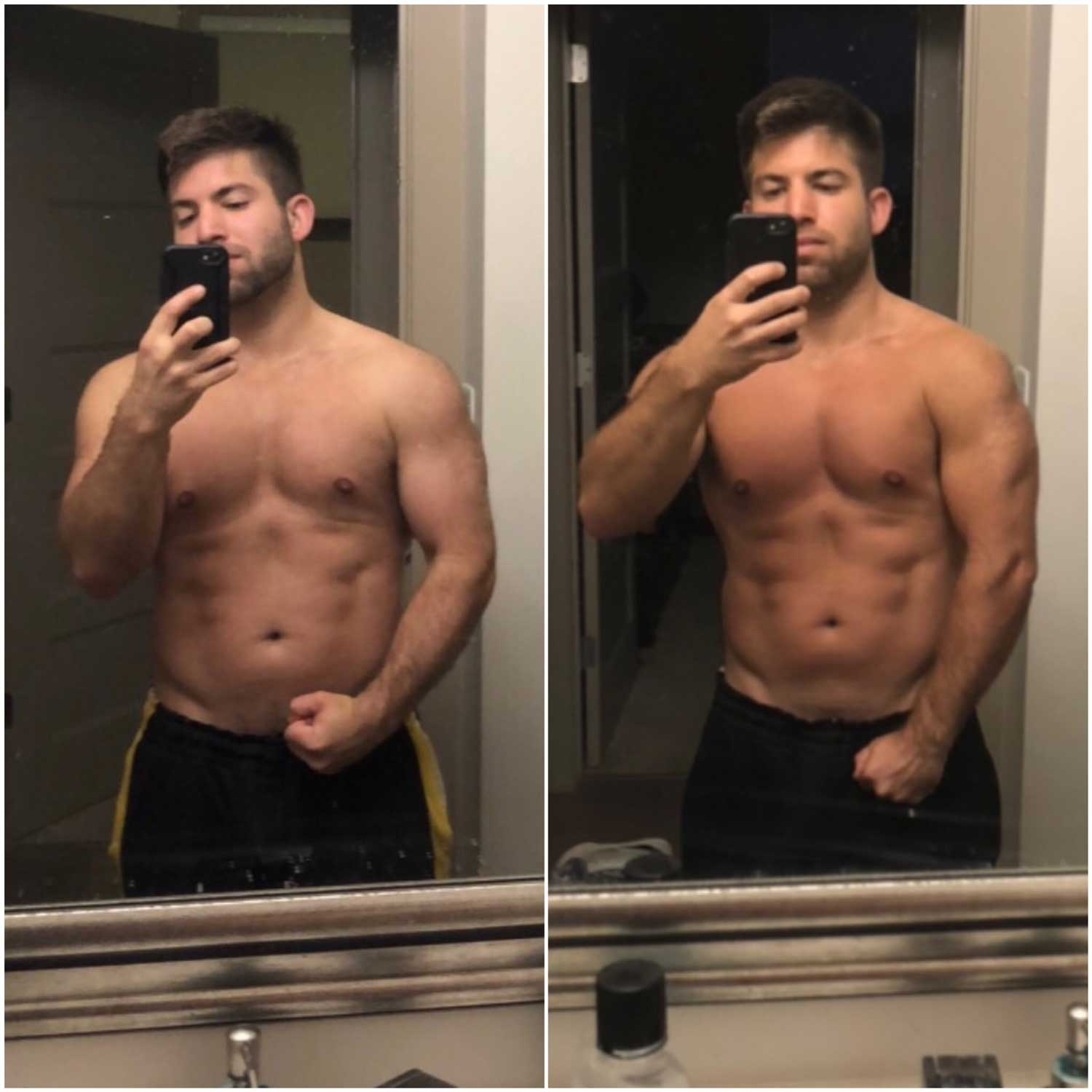 David Poudrier before and after