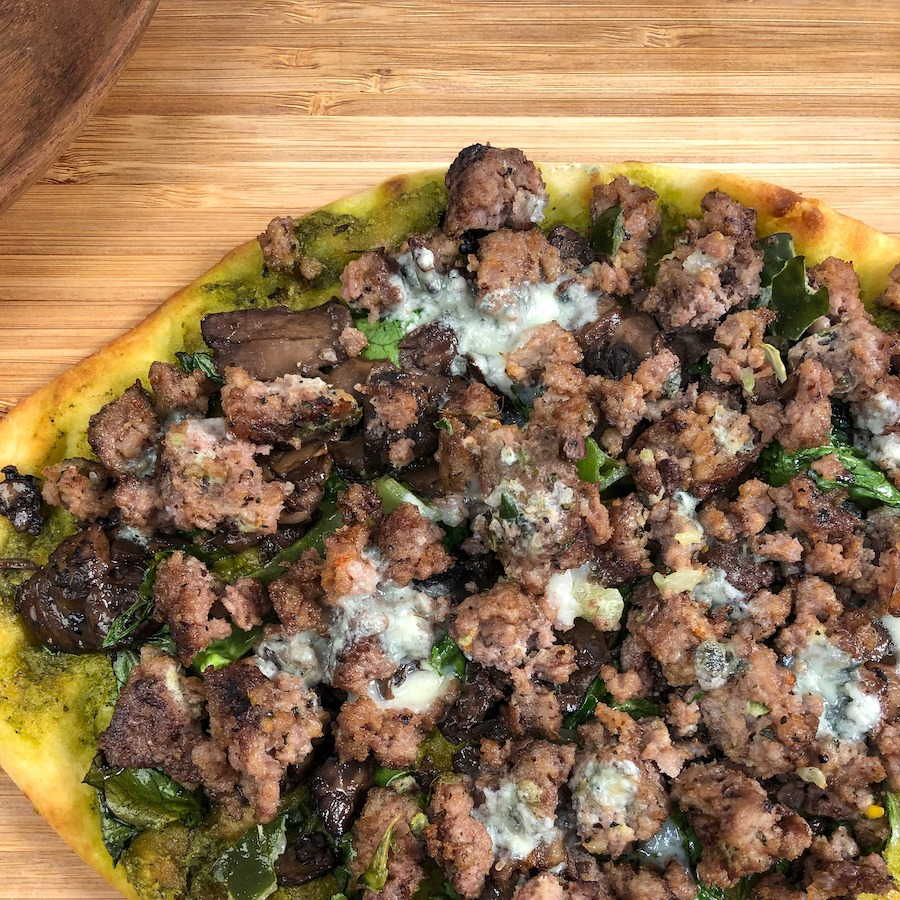 Easy Beef Flatbread