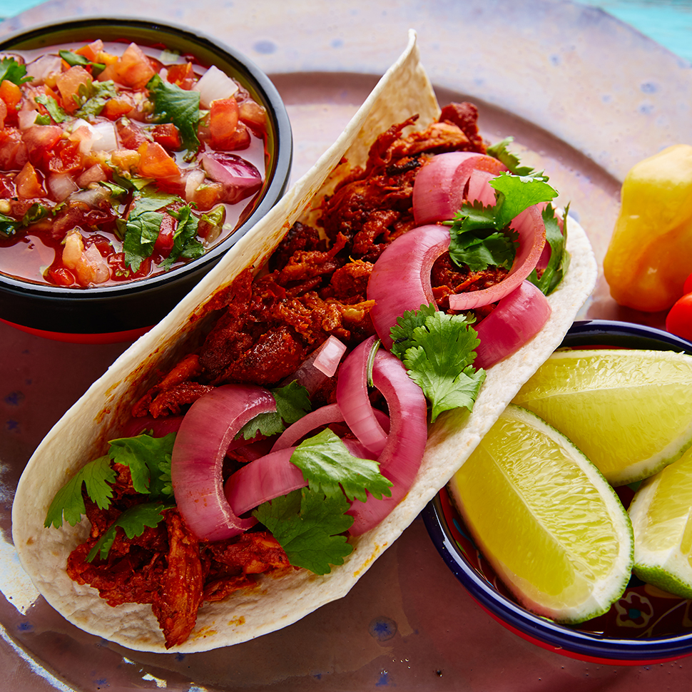 Easy-Chicken-Tacos-Pibil-Recipe-with-Limes-Salsa-and-Pickled-Red-OnionsTrifecta