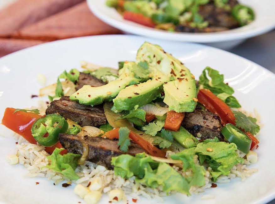 Flat Iron Steak Fajita Bowls
