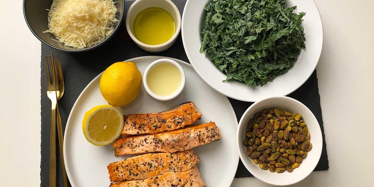 Keto-Salmon-on-Lemon-Parm-Kale-Salad-Prep