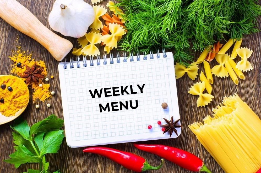 Weekly Menu Planning for Meal Prep