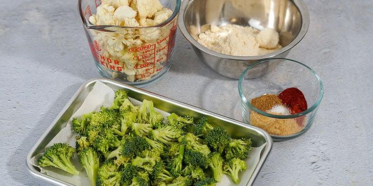 Paleo Broccoli Crispy Tots Recipe mise en place