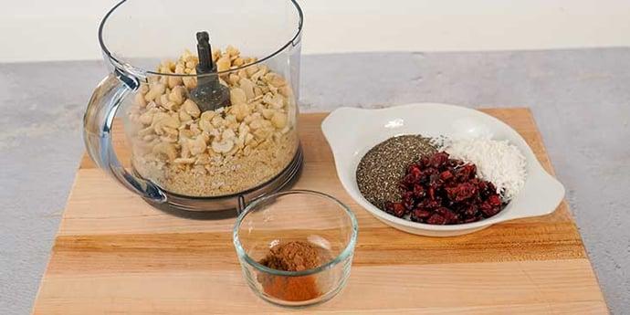 Measure and make base of granola