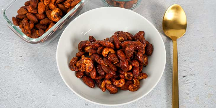 Paleo Roasted Spiced Nuts Recipe bake cool store