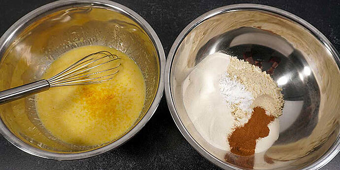 Mix dry ingredients in a separate bowl