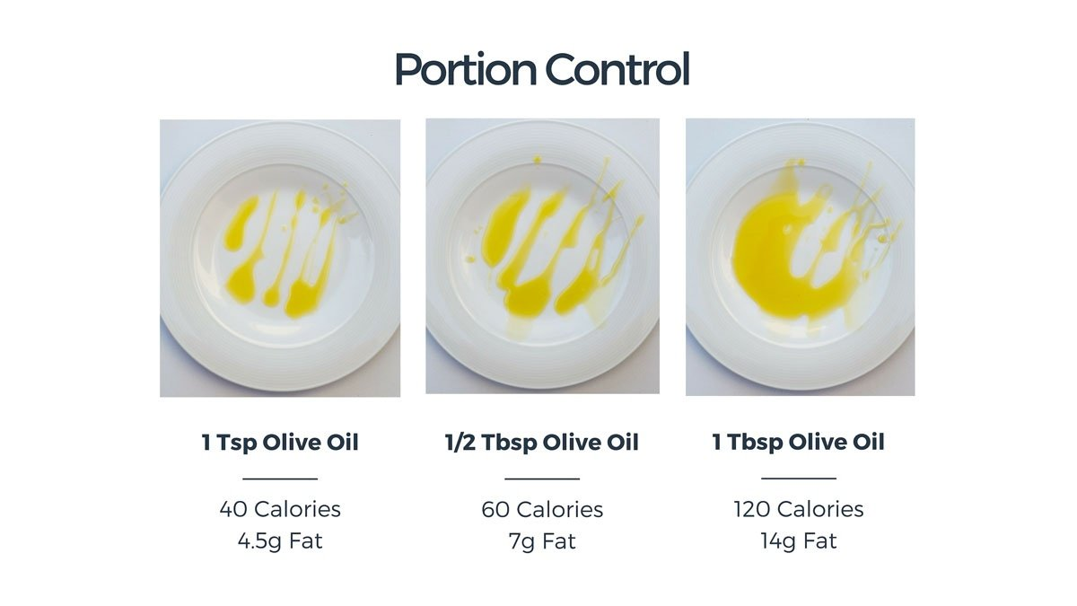 Portion control oil