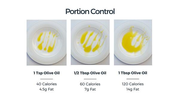 Portion control oil meal prep