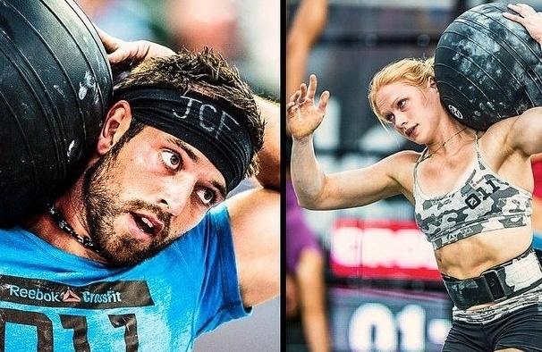 Rich Froning competing in CrossFit games