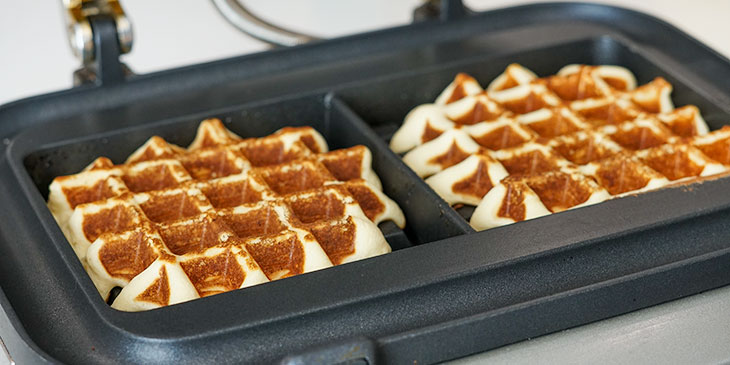 cooking protein waffles in breville waffle maker