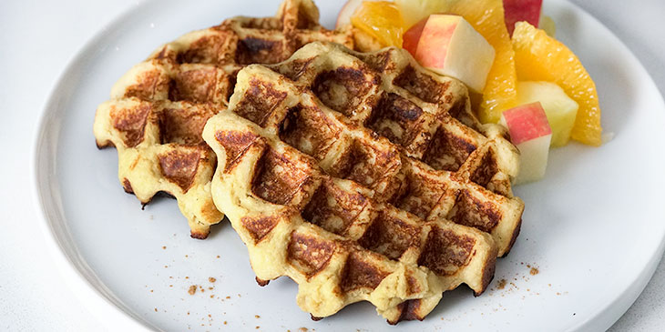 cinnamon-sweet-potato-waffle-recipe-on-plate