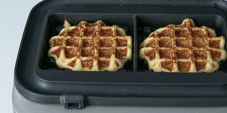 cooking maple cinnamon sweet potato waffle recipe