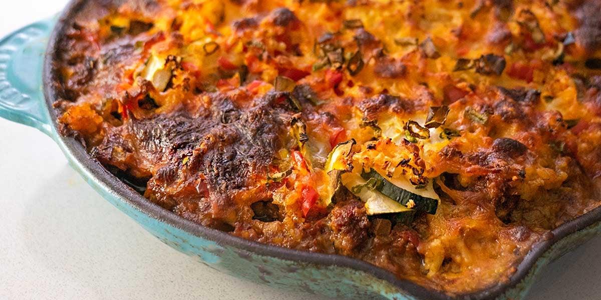 cheesy keto taco casserole or keto meal prep