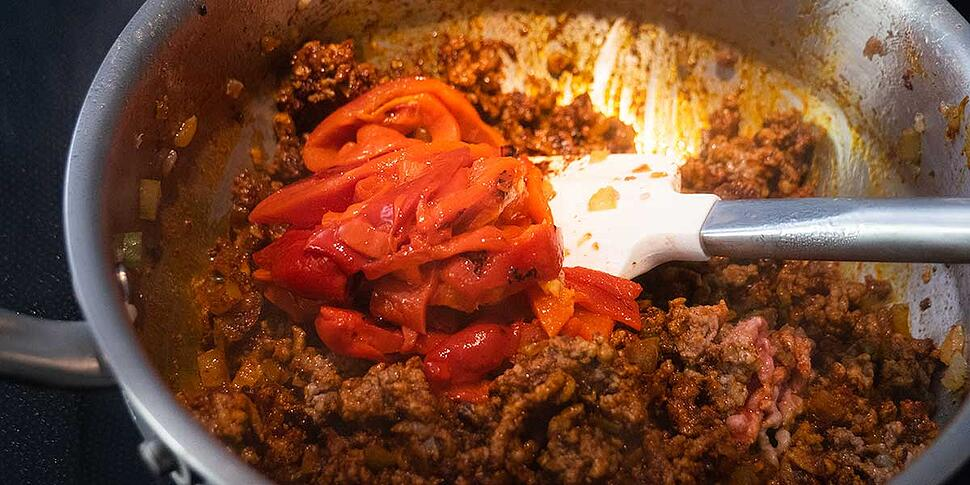 cooking keto chili recipe with spices