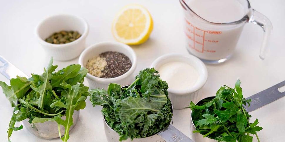 ingredients for keto green smoothie recipe