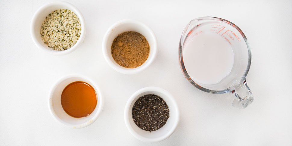 ingredients for keto low carb oatmeal recipe