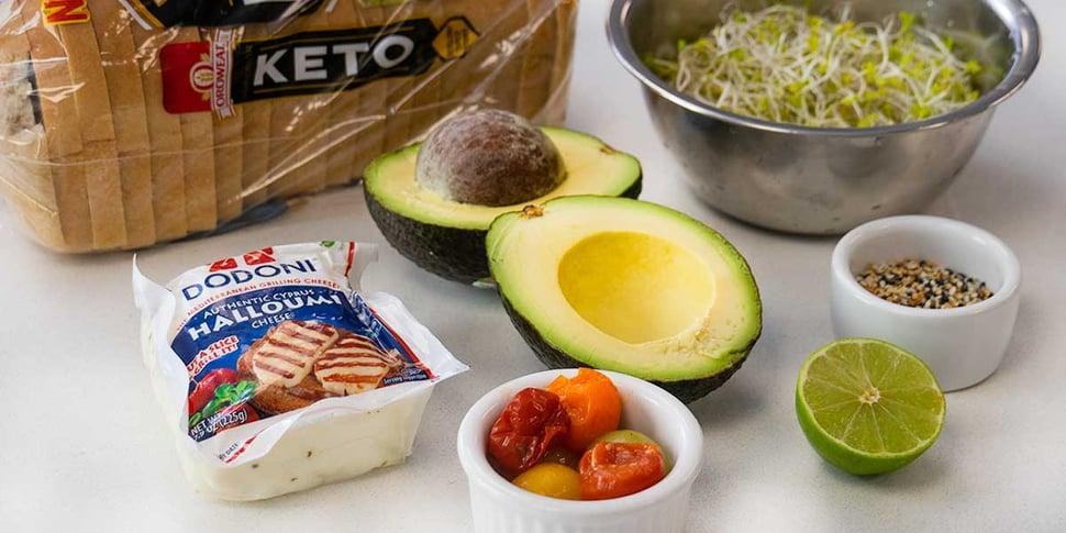keto avocado toast ingredients for keto meal prep