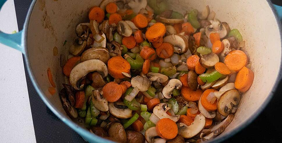 sauting vegetables for keto beef stew recipe