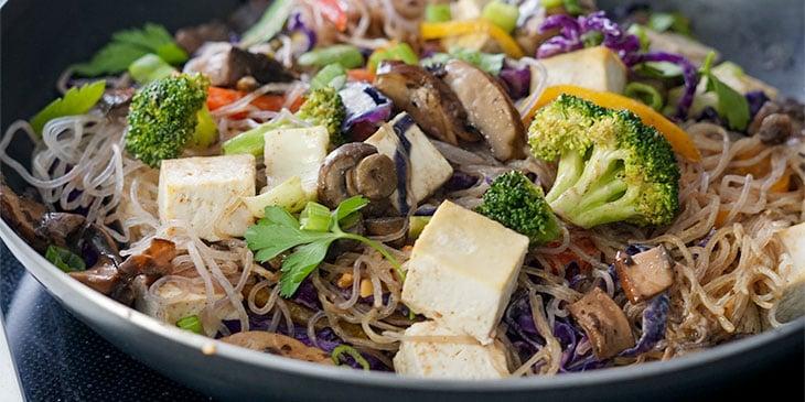 Meal Prepped Vegan Pad Thai Recipe