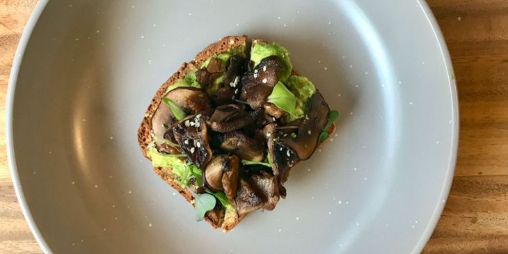 Vegan balsamic mushroom avocado toast recipe