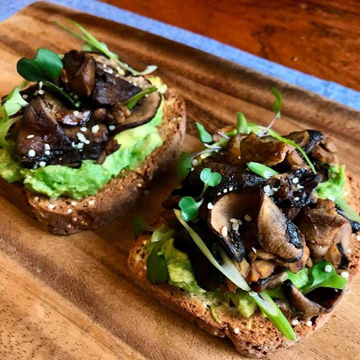 Vegan Balsamic Mushroom Avocado Toast Recipe