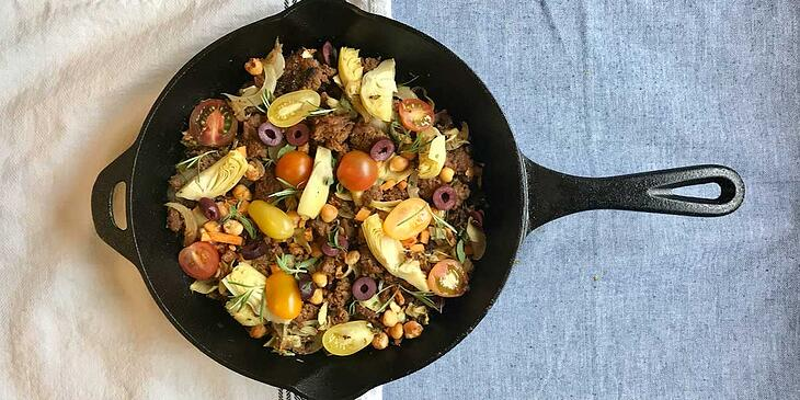 Vegan Mediterranean Breakfast Skillet Recipe