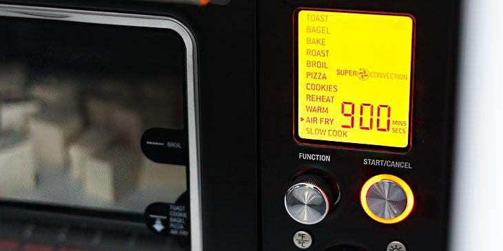 frying tofu in breville air-fryer oven
