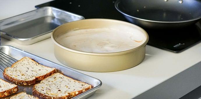 Set up your vegan French toast station