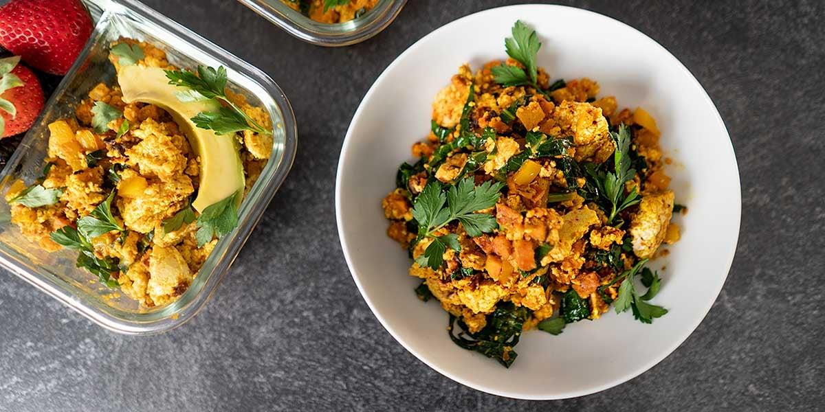 plant-based diet Vegetarian Breakfast Hash Meal Prep