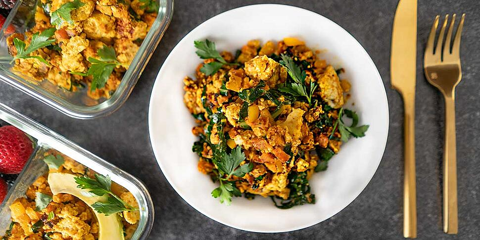 sweet potato and greens breakfast hash
