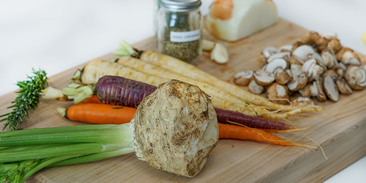 vegetables for vegan potpie recipe