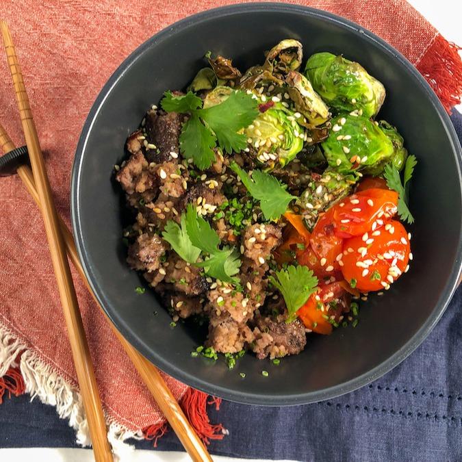 Trifecta Teriyaki Beef and Rice Bowl