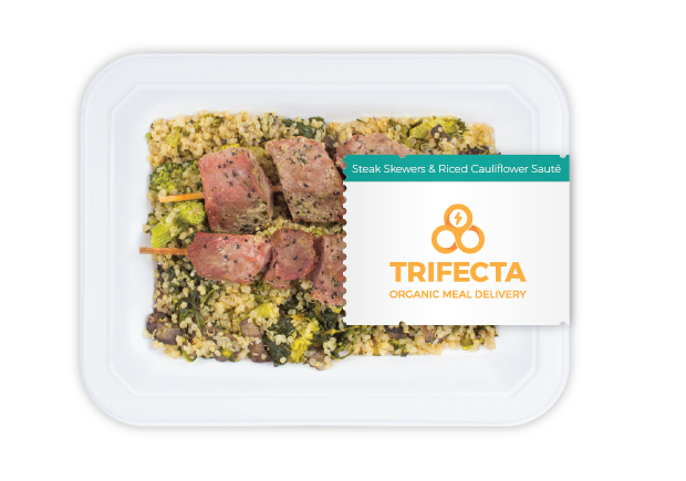 Example Trifecta Paleo Meal: Steak and Riced Cauliflower