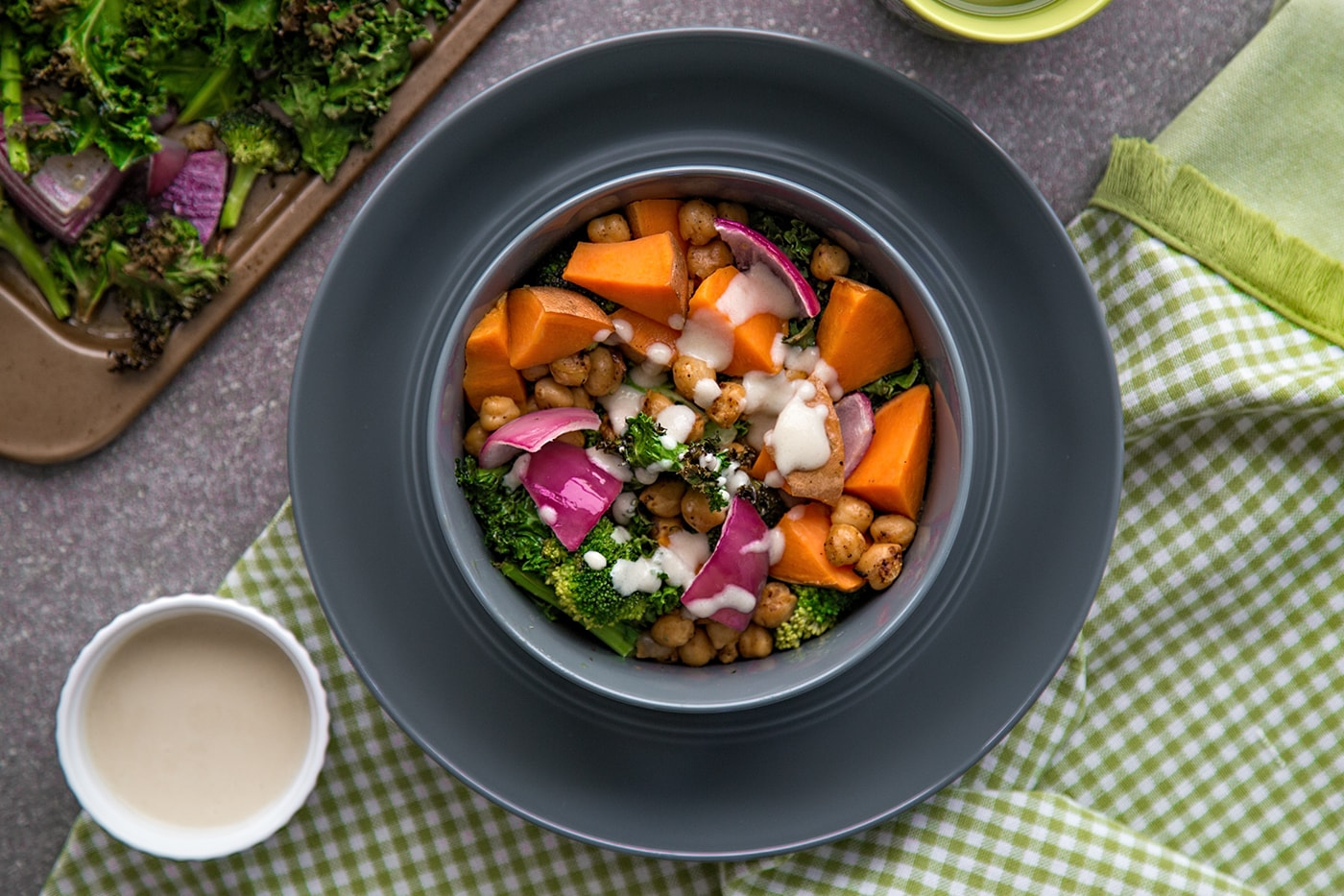 Vegan-butternut squash and kale with chickpeas-min