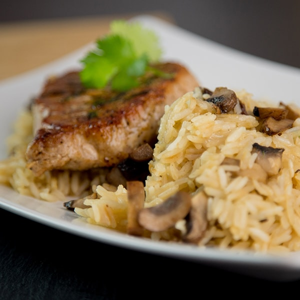 Chicken Breast Mushroom Risotto