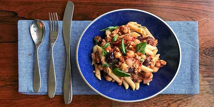 Vegan Chickpea Puttanesca Recipe