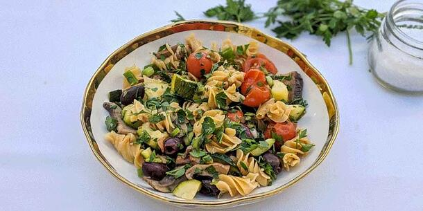 Vegan High Protein Veggie Pasta Recipe