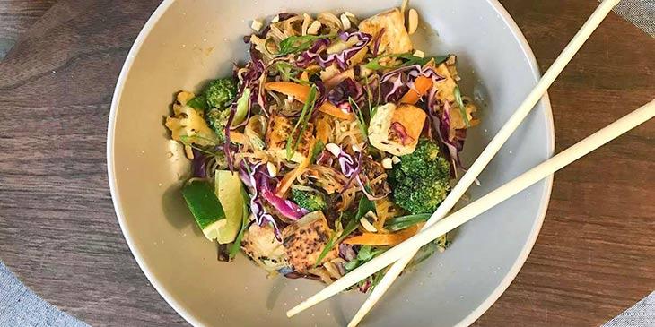 Vegan Kelp Noodle Pad Thai Recipe