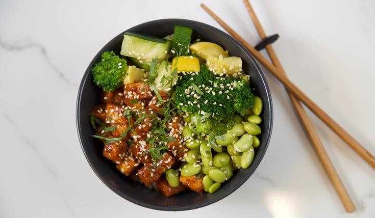 Vegan BBQ Tofu Sit Fry Recipe for meal prep