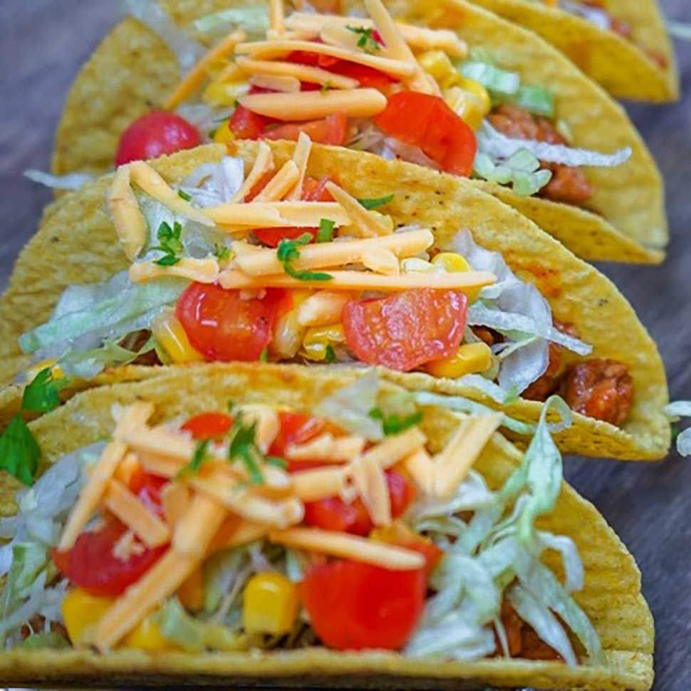 Vegan-Beyond-Meat-Tacos-Trifecta-with-No-Dairy-Cheese-And-Toppings