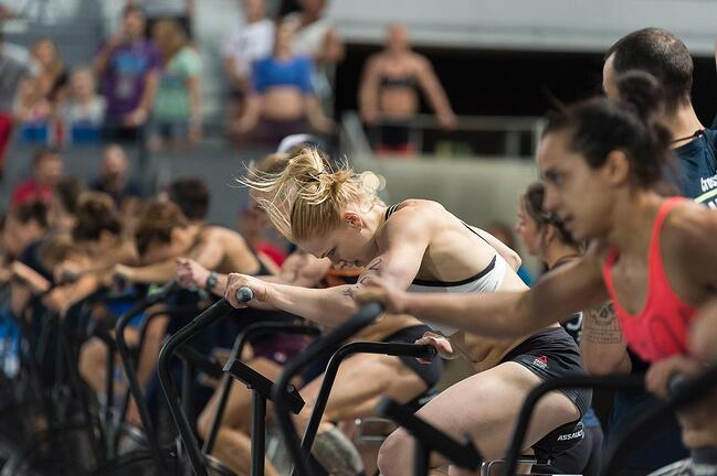 annie thorisdottir crossfit regionals bike sprint high intensity