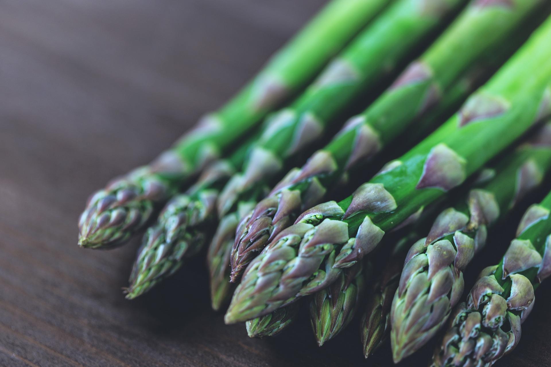 Pile of fresh asparagus spears