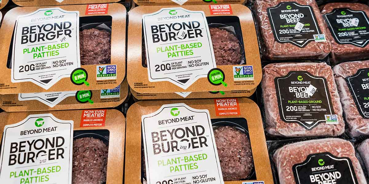 beyond meats burgers packaging