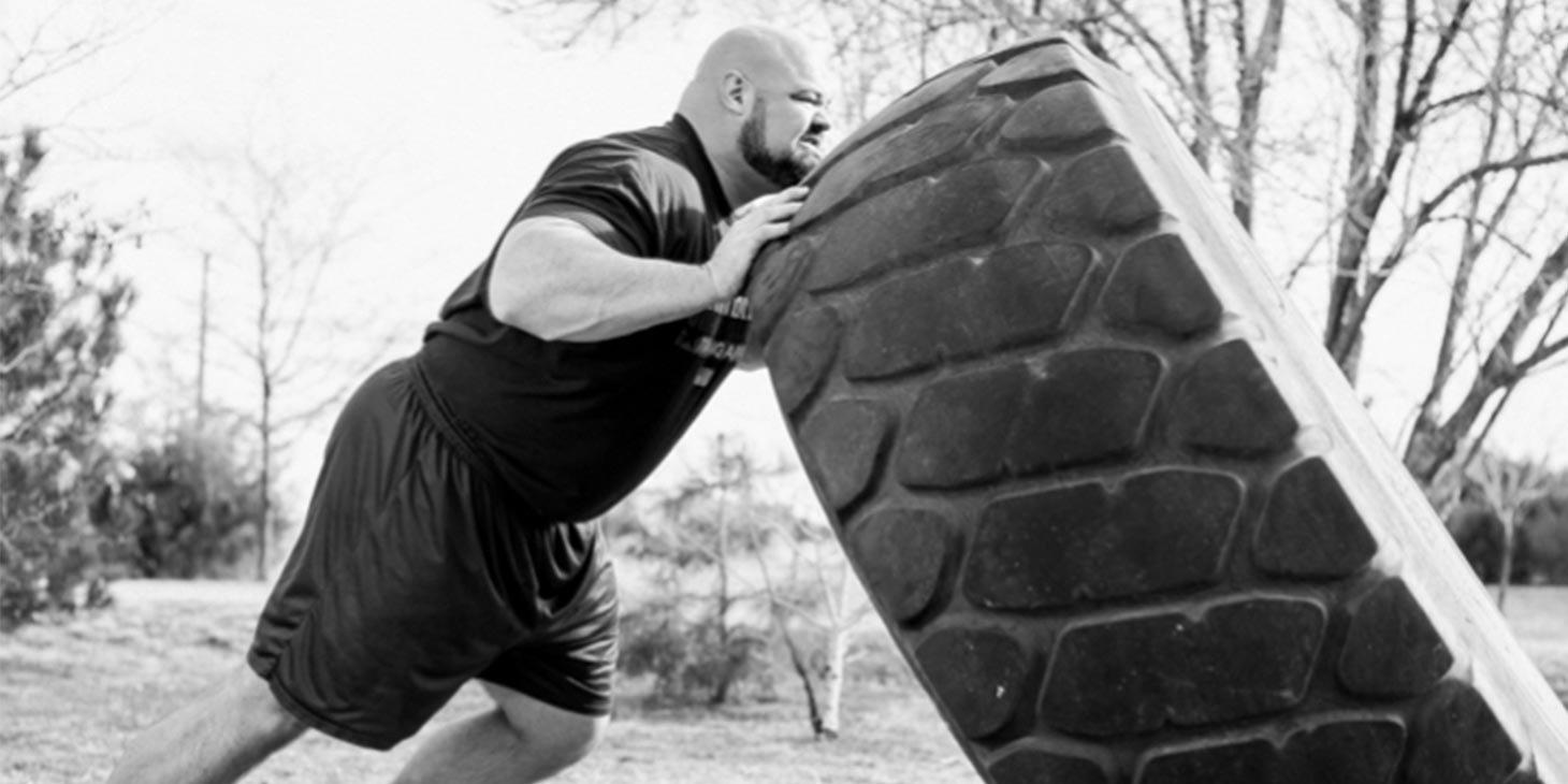 Brian Shaw Flipping Tire