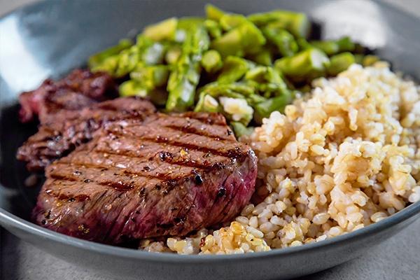 steak-asparagus-rice