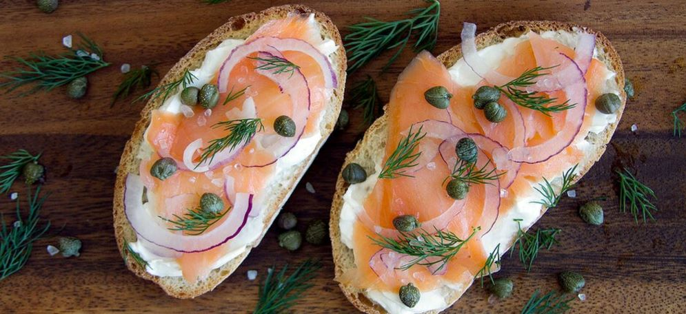 high protein snacks weight loss salmon toast