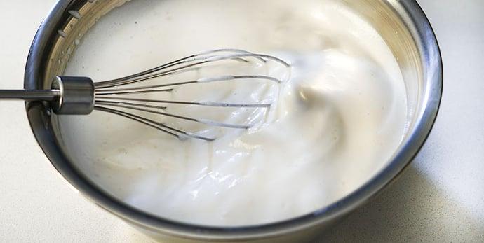 Prepare vegan French toast batter